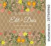 wedding invitation card | Shutterstock .eps vector #257545960