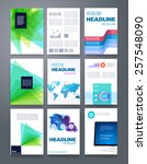 templates. vector flyer ... | Shutterstock .eps vector #257548090