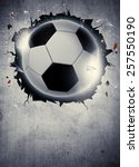 abstract soccer or football... | Shutterstock . vector #257550190