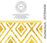 vector card. golden foil... | Shutterstock .eps vector #257554450
