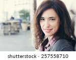 portrait of the beautiful woman ... | Shutterstock . vector #257558710