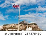 British Flag On A Background Of ...