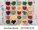 diet detox super food selection ... | Shutterstock . vector #257581570