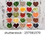 diet detox super food selection ... | Shutterstock . vector #257581570
