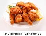 Deep Fried Chicken Wings On A...