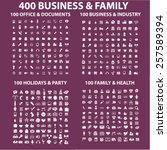 400 business  family  holidays  ... | Shutterstock .eps vector #257589394