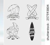 modern sketch isolated set of... | Shutterstock .eps vector #257593804