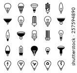light bulb icons   illustration ... | Shutterstock .eps vector #257594890