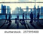 business travel commuter... | Shutterstock . vector #257595400