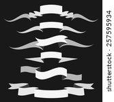 black and white ribbons for... | Shutterstock .eps vector #257595934