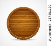 Wooden Barrel End Top Vector...