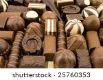 many different chocolate sweets ...   Shutterstock . vector #25760353