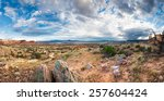 Panoramic View Of The Red Rock...