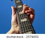 electric guitar neck against...   Shutterstock . vector #2576052