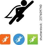 superhero icon | Shutterstock .eps vector #257609740