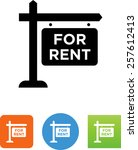 rental sign icon   Shutterstock .eps vector #257612413