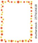 floral frame with colorful... | Shutterstock .eps vector #257614618