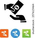 handing money symbol for... | Shutterstock .eps vector #257615464