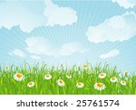 summer meadow. vector... | Shutterstock .eps vector #25761574