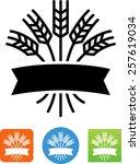 grain emblem symbol for... | Shutterstock .eps vector #257619034
