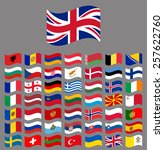europe  waving vector flag... | Shutterstock .eps vector #257622760