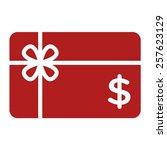 red shopping gift card  ...   Shutterstock .eps vector #257623129