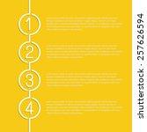 design clean template for... | Shutterstock .eps vector #257626594