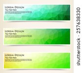 abstract colorful set of shiny...   Shutterstock .eps vector #257638330