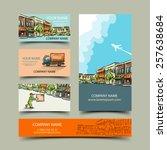 business card set  vector... | Shutterstock .eps vector #257638684