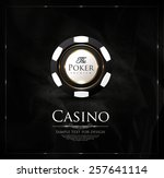 casino background vintage...   Shutterstock .eps vector #257641114