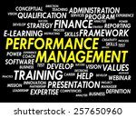 performance management word... | Shutterstock .eps vector #257650960