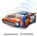 speeding racing car | Shutterstock . vector #257653540