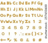 set of letters  numbers ... | Shutterstock . vector #257653600