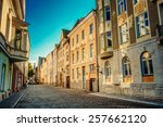 streets and old town... | Shutterstock . vector #257662120
