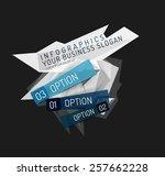 modern origami paper... | Shutterstock .eps vector #257662228