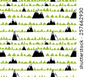 seamless pattern with doodle... | Shutterstock .eps vector #257662930