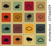 cloud icon set | Shutterstock .eps vector #257666329
