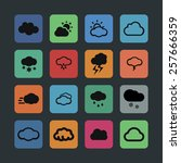 cloud icon set | Shutterstock .eps vector #257666359