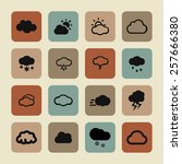 cloud icon set | Shutterstock .eps vector #257666380