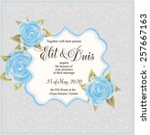 wedding invitation card | Shutterstock .eps vector #257667163