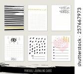 set of 6 creative journaling...   Shutterstock .eps vector #257667973
