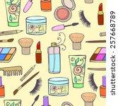set of decorative cosmetics   Shutterstock .eps vector #257668789