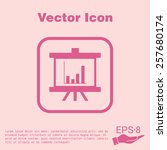 presentation graphics. business ... | Shutterstock .eps vector #257680174