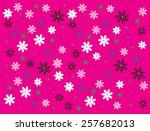 flowers cosmos | Shutterstock .eps vector #257682013
