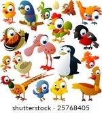 extra big set of birds | Shutterstock .eps vector #25768405