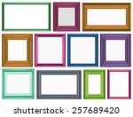 different sizes for photo frames | Shutterstock .eps vector #257689420