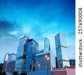 hong kong night  the city's...   Shutterstock . vector #257690008