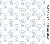 bulbs  seamless pattern. | Shutterstock .eps vector #257700349