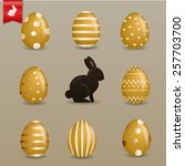 Realistic Golden Easter Eggs...