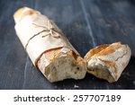 Fresh  Baguette On Wooden Tabl...